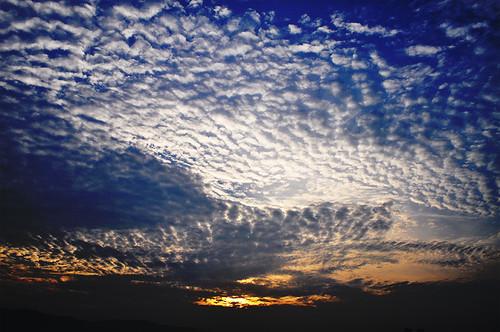 new morning blue sky orange sun clouds sunrise dawn day fresh mumbai navi d5000 sanpada antopix