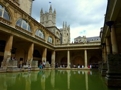 Roman baths in the city of Bath, England