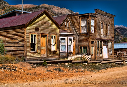 St. Elmo is a ghost town in Chaffee County, Colorado, United States. Founded in 1880, St. Elmo lies in the heart of the Sawatch Range, 20 miles southwest of Buena Vista. Nearly 2,000 people settled in this town when mining for gold and silver became evident. The mining industry started to decline in the early 1920s, and in 1922 the train discontinued service. The community is listed on the National Register of Historic Places as St. Elmo Historic District. It is one of Colorado's most preserved ghost towns.