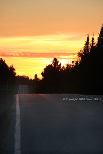 road sunset sky clouds highway wi wausau