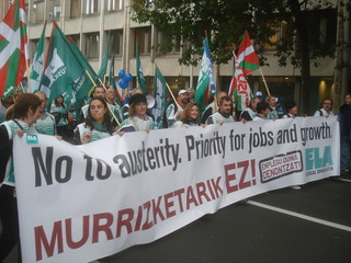 Anti-austerity protest in Brussels on September 29, 2010