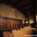 Inside Pienza's Palazzo Comunale - Tuscany, Italy