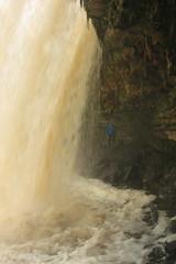 Behind Jägala Waterfall