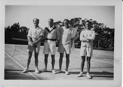 An exhibition of tennis held at the Barabba Courts in 1983