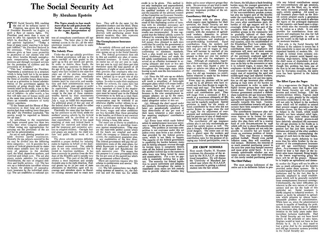 essay on social security act of 1935 The social security act came to into law on august 14th 1935 one of the first things that this act did was social security essay.