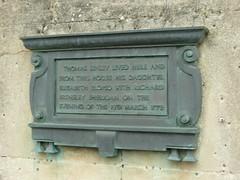 Photo of Thomas Linley, Elizabeth Ann Linley, and Richard Brinsley Sheridan bronze plaque