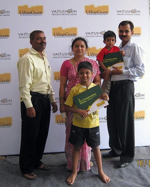 Proud owners of a 2 BHK Flat for Rs. 20 Lakhs at Vastushodh's UrbanGram at Kondhawe Dhawade near Warje Pune