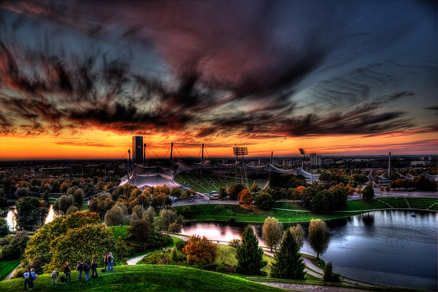 Olympic Stadium Munich (HDR)