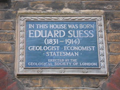 Photo of Eduard Suess blue plaque