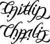 """Caitlin"" & ""Charlie"" Ambigram A custom ambigram"