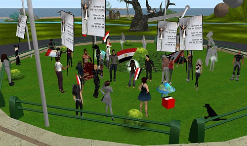 Celebrations in the Egypt sim of Second Life
