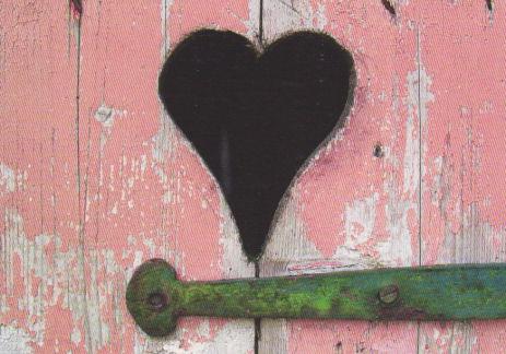 pink heart door