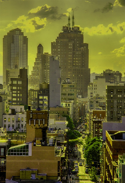 Golden Glow At Sunset Of Hester Street and Architecture On LES