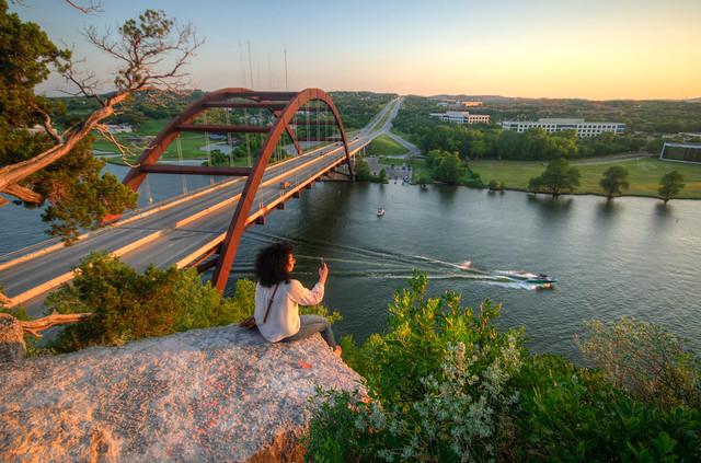 Overlooking the Pennybacker Bridge, Nikon D5300, Sigma 10-20mm F4-5.6 EX DC HSM