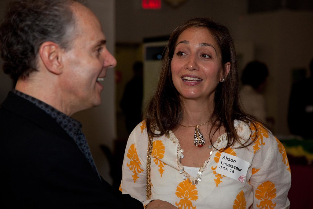 AAP Dean Kent Kleinman with Alison Levasseur (B.F.A. '88)