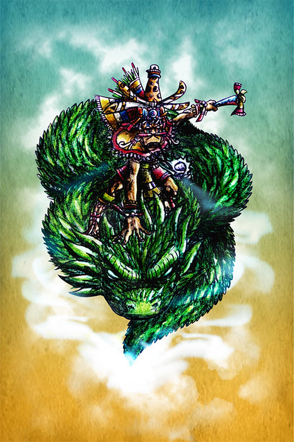 Ehecatl Quetzalcoatl Coloreado Final Flickr Photo Sharing