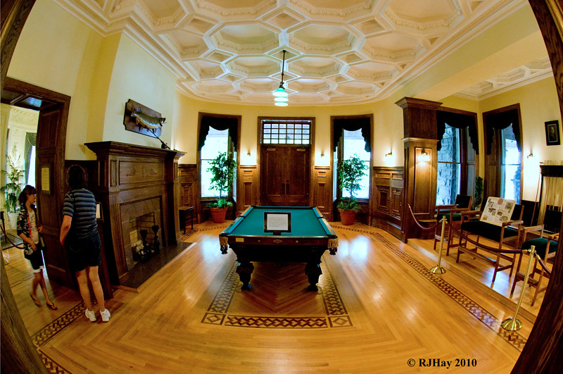 Pool Table in Boldt Castle, Heart Island, NY