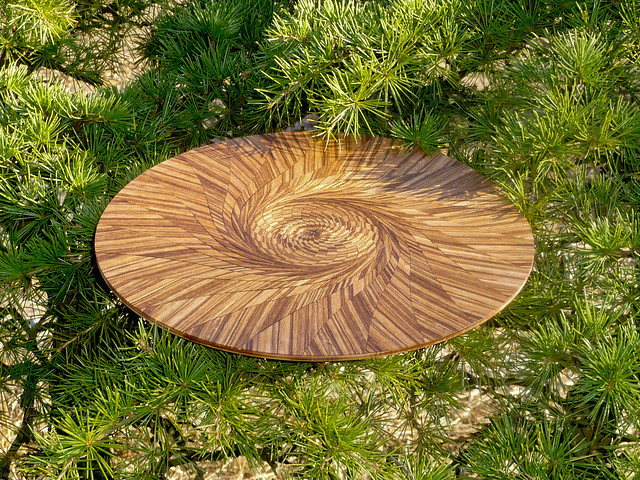Lasercut wood spirals in nature  Flickr  Photo Sharing!