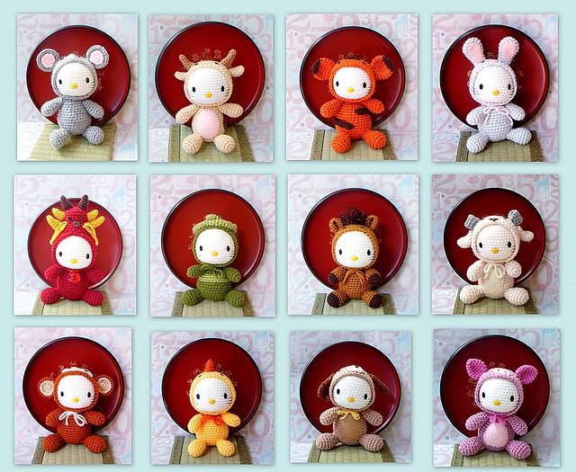 Crochet Patterns For Zodiac Signs : Zodiac Amigurumi patterns-Kitty version Flickr - Photo ...
