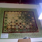 Green kaleidoscope quilt