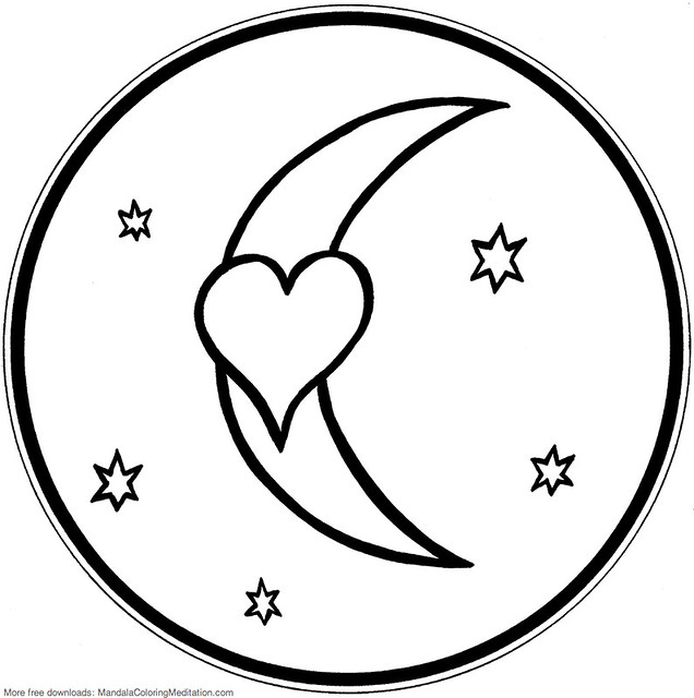 Image Gallery of Coloring Pages Of Hearts And Stars