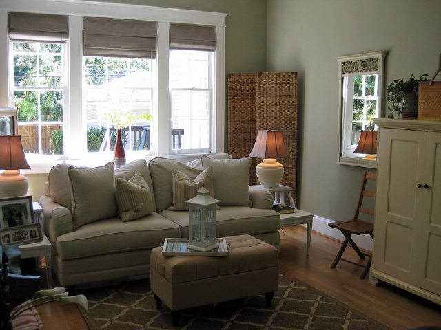 Sage green family room flickr photo sharing - Sage green living room ...