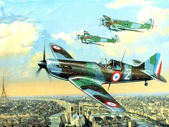 aviation, airplane, propeller driven aircraft, vehicle, supermarine spitfire, fighter aircraft,
