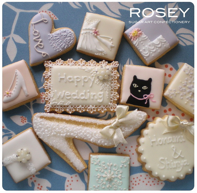 Wedding Favor Boxes For Cookies : LACY COOKIE