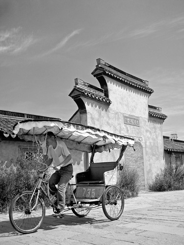 china old bw man canon xitang 西塘 ixus70