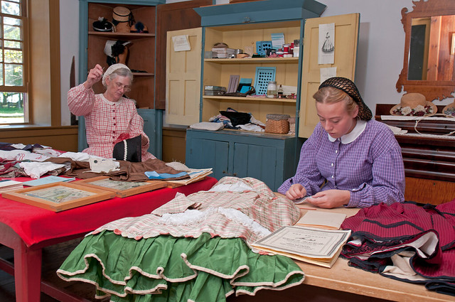 Dressmaker's shop, Upper Canada Village