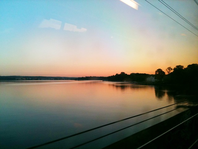 On the Acela rolling thru Abingdon, MD to NYC