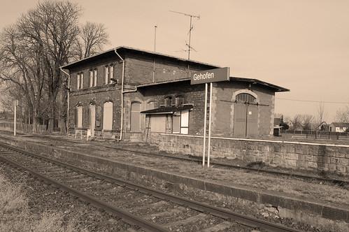 closed railway station Gehofen