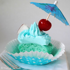 Gluten free Blue Hawaii Cupcake