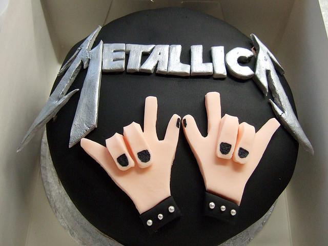 Metallica Birthday Cake