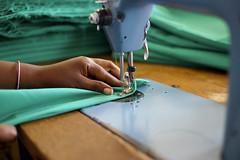 sewing, art, green, close-up, blue,