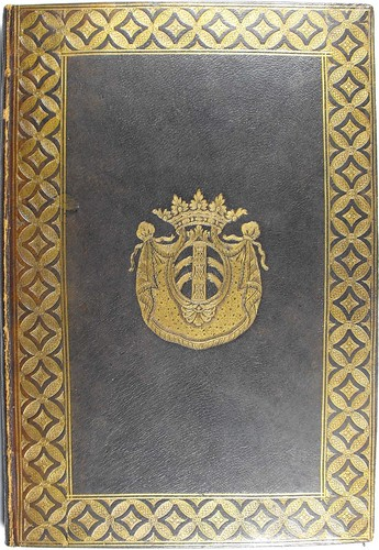 Front cover of binding from 'Commentarii in orationes Ciceronis'. Sp Coll Hunterian Bh.2.12.