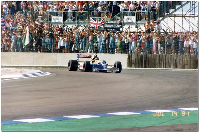 Nigel Mansell Wins The 1991 F1 British GP Silverstone.