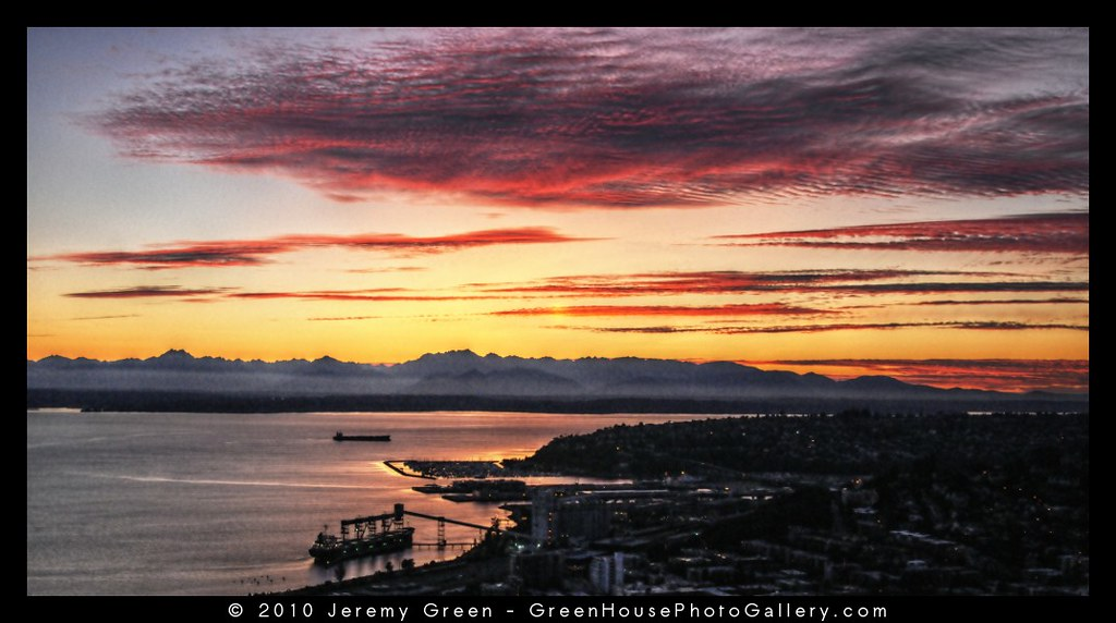 Sunset at the Space Needle