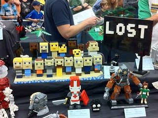 8-bit LEGO cast of Lost
