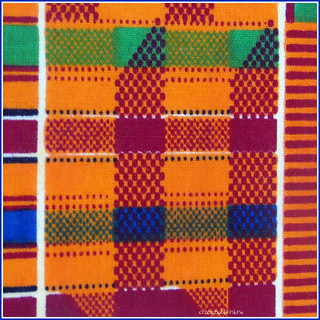 African Kente cloth