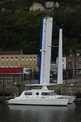 "Trimaran Wingsail ""Larinka"" at Dover Marina"
