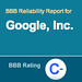 Google's Poor BBB Rating.