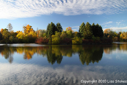 blue autumn trees sky ontario canada color colour reflection fall water clouds lisas foliage brampton blueribbonwinner coth loaferslake 50d 2660 impressedbeauty theunforgettablepictures coth5 copyright2010lisastokes mapmyride:route=276585265
