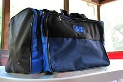 handbag(0.0), leather(0.0), bag(1.0), hand luggage(1.0), electric blue(1.0), brand(1.0),