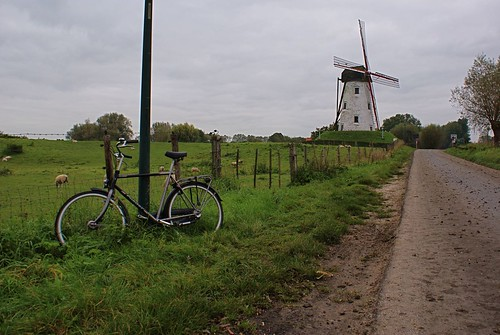 Cycling by a Windmill