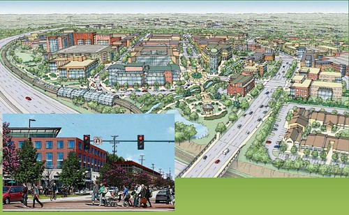 rendering of Indian Run District, Dublin Ohio (courtesy of Goody Clancy Planning)