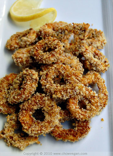 Baked King Oyster Mushroom Calamari