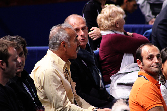 Mansour Bahrami and Guy Forget