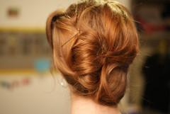 face(0.0), ringlet(0.0), french braid(0.0), forehead(0.0), braid(0.0), hairstyle(1.0), chignon(1.0), bun(1.0), hair(1.0), brown hair(1.0), blond(1.0), hair coloring(1.0),