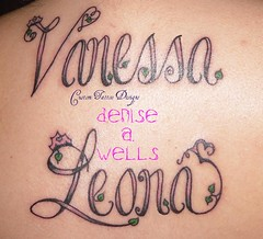 Girly fonts lettering by denise a wells an album on for Girly font tattoo